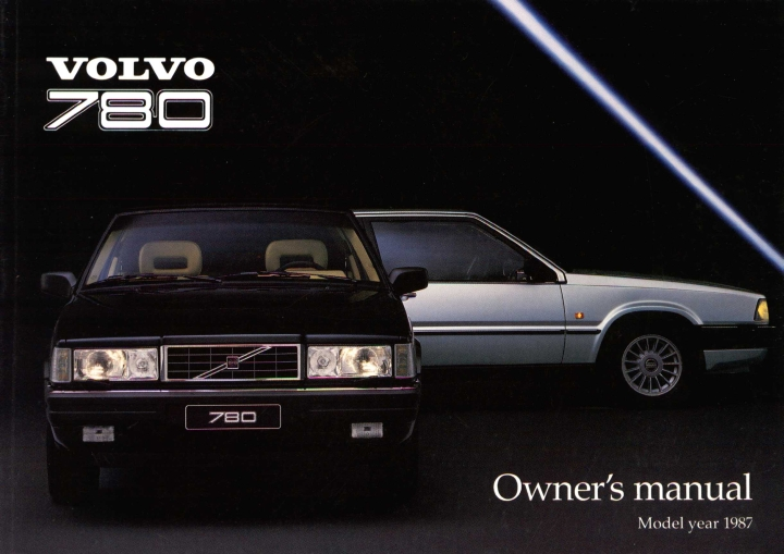 Frontside Volvo 780 Owner's Manual Year model 1987