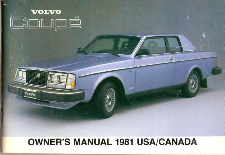 Frontside Volvo 262C Owner's Manual Year model 1981